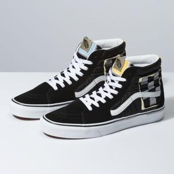 Vans Mixed Quilting Sk8-hi (black/true White)