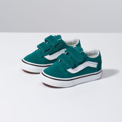 Vans Toddler Old Skool V (quetzal Green/true White)