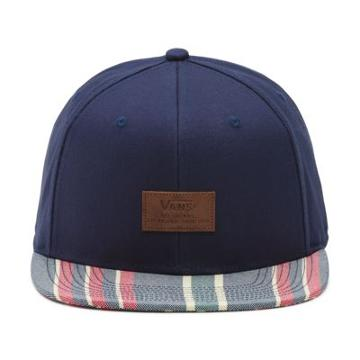 Vans Allover It Snapback Hat (dress Blues Stripe)