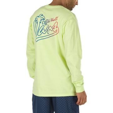 Vans Tiki Time Long Sleeve T-shirt (sunny Lime)
