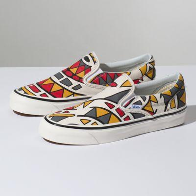 Vans Anaheim Factory Slip on 98 Dx (og White Hey Mon