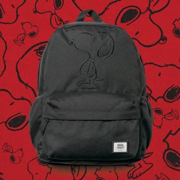 Vans X Peanuts Tonal Embroidery Realm Plus Backpack (black)