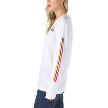 Vans Sunshine Stripe Long Sleeve T-shirt (white)