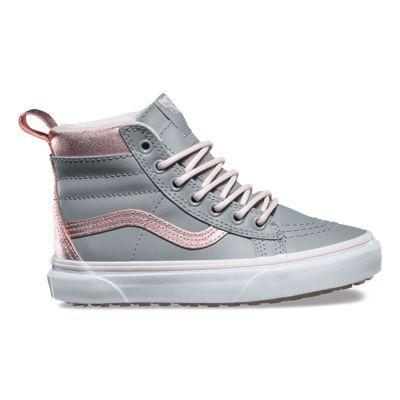 9736aac369e Vans Kids Sk8-hi Mte (metallic Alloy Heavenly Pink)