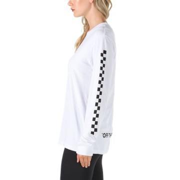 Vans Oversized Checker Long Sleeve T-shirt (white)