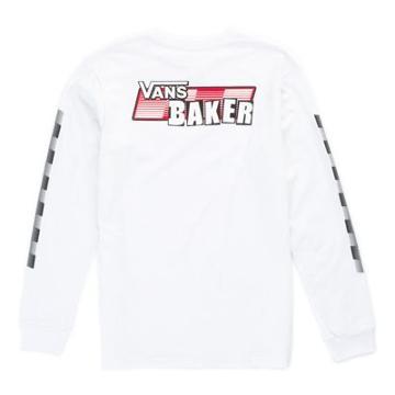 Vans Baker X Vans Speed Check Long Sleeve T-shirt (white)