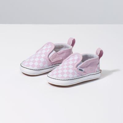 Vans Infant Checkerboard Slip-on V Crib (lilac Snow/true White)