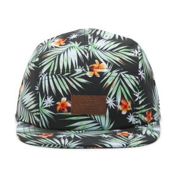 Vans Davis 5 Panel Camper Hat (black Decay Palm)