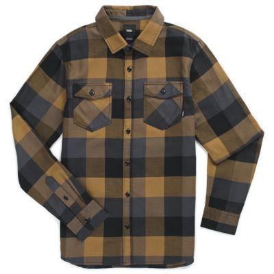 Vans Boys Box Flannel Shirt (dirt Black)