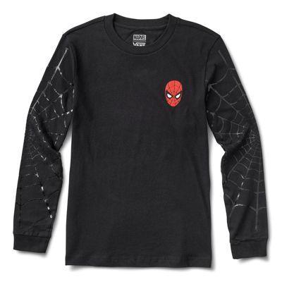 Vans X Marvel Spidey Webs Long Sleeve Boyfriend Tee (black)