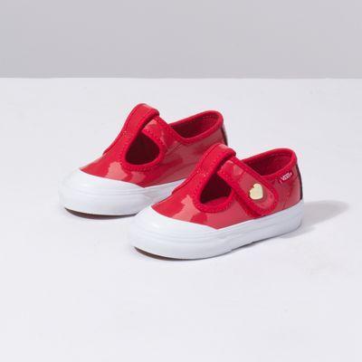 33124e5e5bc9b3 VansVans Toddler Patent Leena (red)