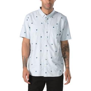 Vans Houser Ss Buttondown Shirt (baby Blue Jungle Ditsy)