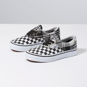 Vans Kids Plaid Checkerboard Era (black/true White)