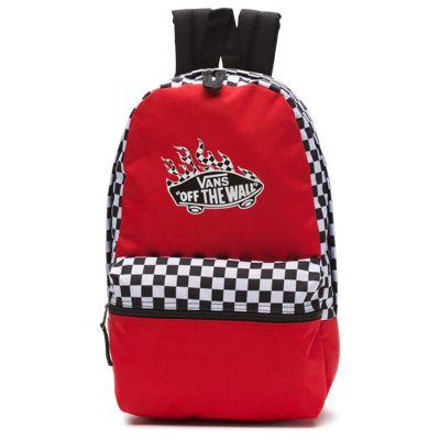 cf1f573354e Vans Calico Small Backpack (racing Red Checker Flame)