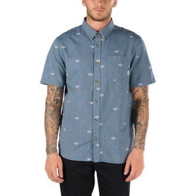 Vans Houser Ss Buttondown Shirt (dress Blues Washed Up)