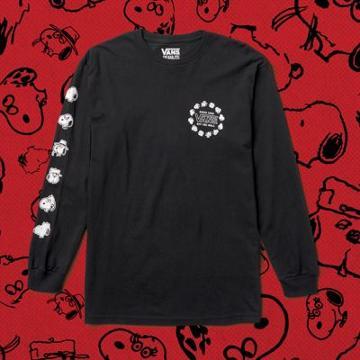 Vans Boys Vans X Peanuts Snoopy's Brothers Long Sleeve T-shirt (black)