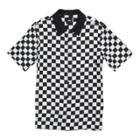 Vans Boys Checker Camp Short Sleeve Buttondown Shirt (white/black)