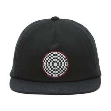 Vans Checkered Shallow Unstructured Hat (black)