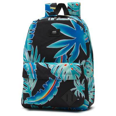 Vans Old Skool Backpack (black Pit Stop Floral)