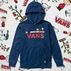 Vans Boys Vans X Peanuts Holiday Pullover Hoodie (dress Blues)
