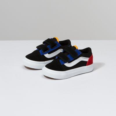 Vans Toddler Color Block Old Skool V (black/true White)