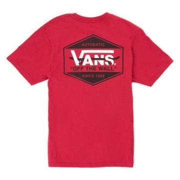Vans Boys Vans Complete Lockup T-shirt (cardinal)