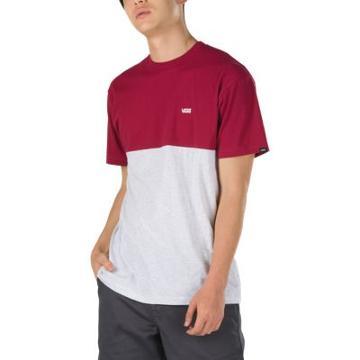 Vans Colorblock T-shirt (rhumba Red/ash Heather)