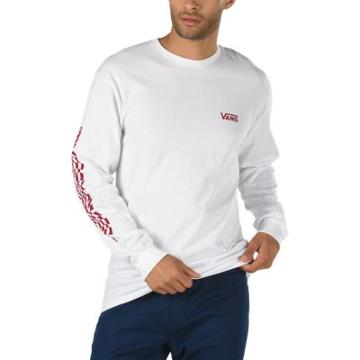 Vans Warped Check Sleeve Long Sleeve T-shirt (white)