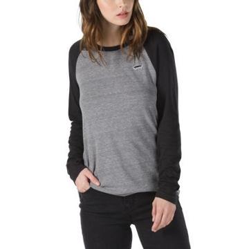 Vans Skate Patch Long Sleeve Raglan (grey Heather Black)