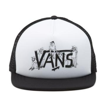 Vans Shaper Gang Trucker Hat (white Black)