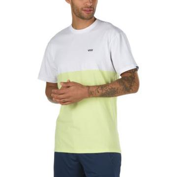 Vans Colorblock T-shirt (white/sunny Lime)