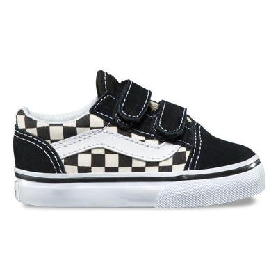 Vans Toddler Primary Check Old Skool V (black/white)