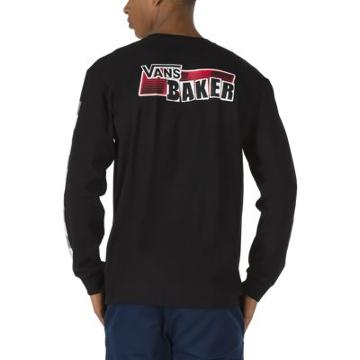 Vans Baker X Vans Speed Check Long Sleeve T-shirt (black)