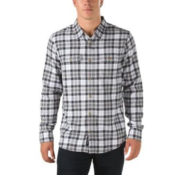 Vans Sycamore Flannel Shirt (white/new Charcoal)