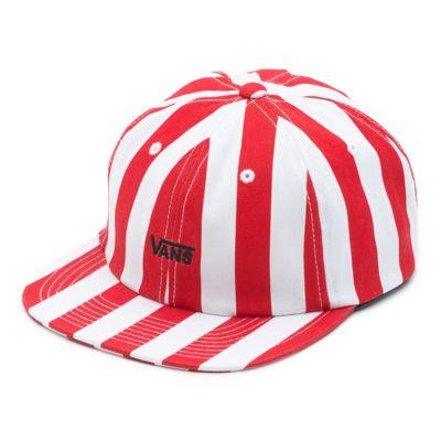 Vans Stripe Unstructured Hat (racing Red Stripe)