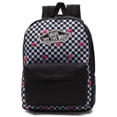 Vans Realm Backpack (rose Checkerboard)