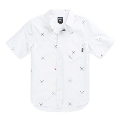 Vans Boys Vans X Harry Potter™ Short Sleeve Buttondown Shirt (spells/white)
