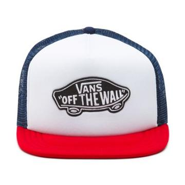 Vans Classic Patch Trucker Hat (dress Blues White Chili Pepper)