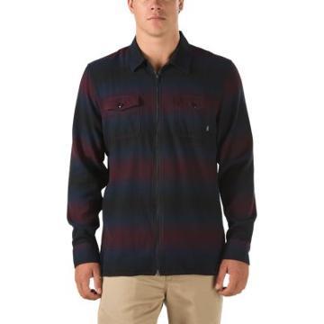 Vans Brewster Zip Flannel Shirt (port Royale Border Stripe)