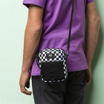Vans Bail Shoulder Bag (black/white Check)