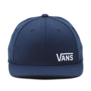 Vans Boys Splitz Flexfit Hat (dress Blues-white)
