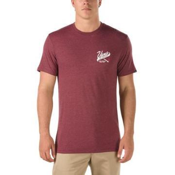 Vans Slow Burn T-shirt (burgundy Heather)