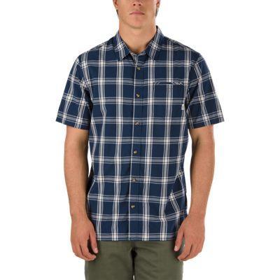 Vans Stafford Buttondown Shirt (dress Blues-turtle Dove)