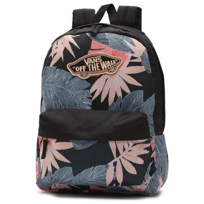 Vans Realm Backpack (dark Slate Palm Fronds)