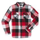 Vans Boys Box Flannel Shirt (chili Pepper Black)