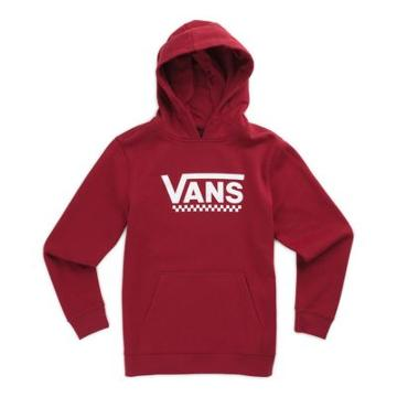 Vans Boys Drop V Pullover Hoodie (rhubarb)