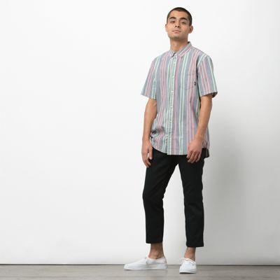 Vans Houser Ss Buttondown Shirt (dress Blues Evergreen)