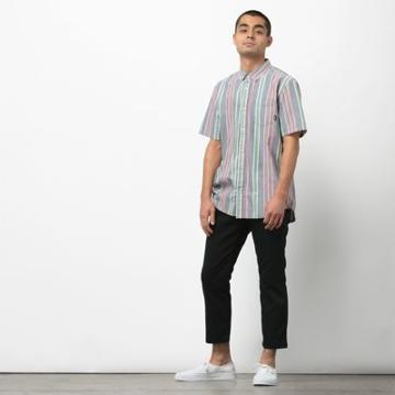 Vans Houser Ss Buttondown Shirt (dress Blues Evergreen)