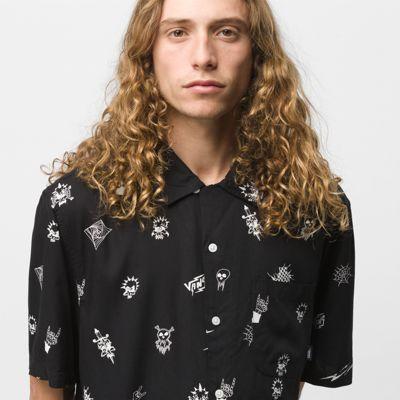 Vans Reign The Lightning Camp Buttondown Shirt (black)