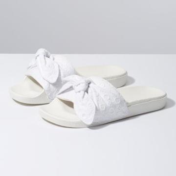 Vans Cotton Lace Slide-on (true White)